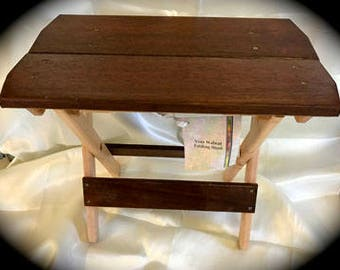 Walnut Folding Stool Easy to carry spinning knitting travel gift music