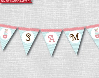 Baking Party Happy Birthday Party Banner - Bake Shop Themed Party - Digital Design