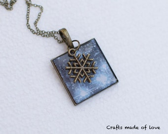 Blue winter sky pendant