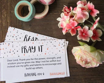 SELFLESSNESS - Read It Pray It Cards