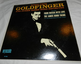 Songs from Goldfinger and other James Bond favorites including From Russia With Love  + The James Bond Theme - Vintage LP Vinyl Record 15-22