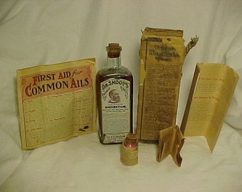 c1890s Dr. Shoop's Rheumatic Remedy a Treatment for Rheumatism Prepared By Dr. C. I. Shoop Racine, Wis., Cork Top Medicine Bottle Full
