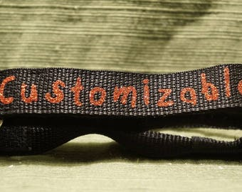 Skate lock strap customized with name number or anything you want!