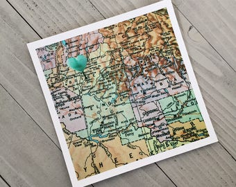 Boise Map, Idaho Heart Map, Boise Idaho, Idaho Gift, Hometown Heart, Heart Map Art, Map Photography Print, Ready to Ship, Valentine's Gift