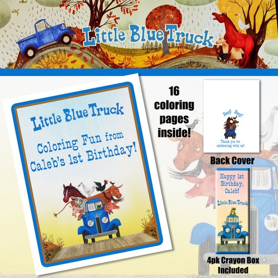 Little Blue Truck Coloring Book with Crayons/Birthday Party