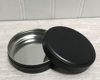 Black Metal Tins - Set of 25