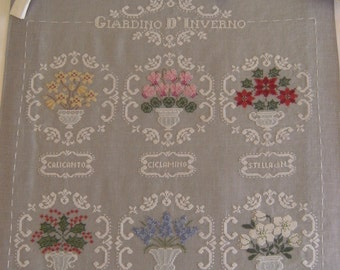 Chart GIARDINO d' INVERNO - Hardcopy or PDF format-Also available in English and French translation