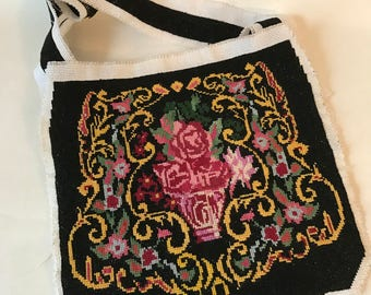 Vintage Cross Stitch Purse or Pockets to Finish