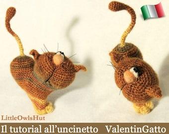 028IT Il tutorial all'uncinetto ValentinGatto. Amigurumi Giocattolo - PDF Di Pertseva Etsy