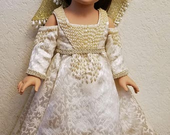 """Ever After Princess Dress Pattern from Daydreamers and Time Travelers for 18"""" dolls like AG, OG, Tonner, My Imagination, Madame Alexander"""