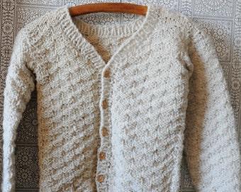 Hand-knitted children's cardigan