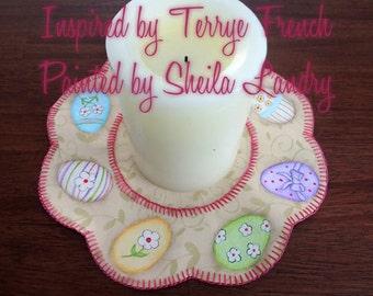 Easter egg mat, email pattern packet, Sheila Landry