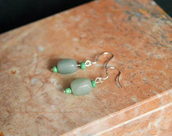 Sterling Silver Jade Earrings