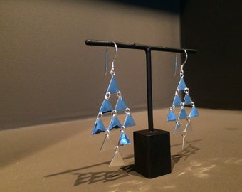 Pyramid Earrings The silver is sterling 925,
