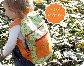 Backpack Sewing Pattern in Two Sizes - Instant Download