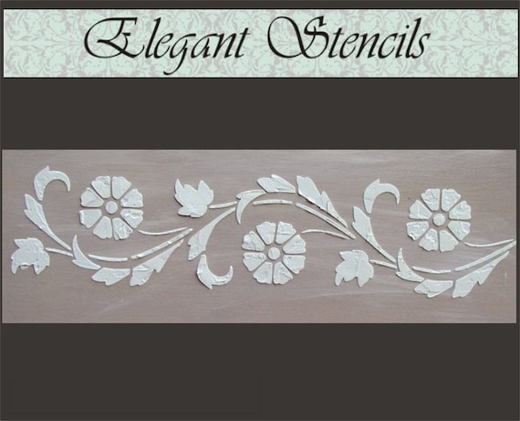 Stencil, Wall Stencil, Raised Plaster Stencil, Art Deco Flower Border Wall  Stencil, Painting Stencil, Wall Decor From ElegantStencils On Etsy Studio