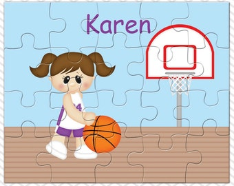 Basketball Girl Personalized Puzzle, Personalized Basketball Puzzle, Personalized Kids Puzzle