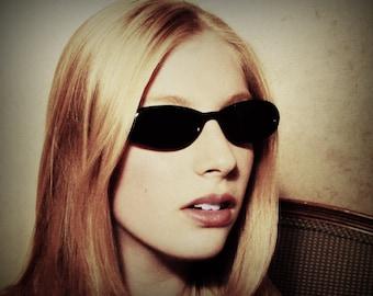 Vintage Cateye Sunglasses, Black Cat Eyes, Vintage Cateyes, Retro Sunglasses, Oval Glasses, Warhol Fellini Velvet Underground