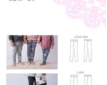 PDF- Mönster: Skinny pants junior (leggings) långa och capri stl 50-170