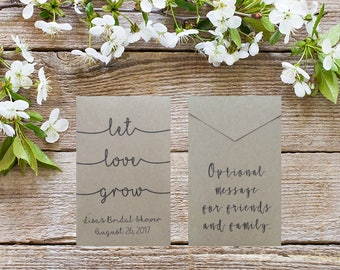 10 Let Love Grow Seed Packets | Wedding Favors | Custom Seed Packet | Wedding Favours | Seed Packet | Wedding Decor