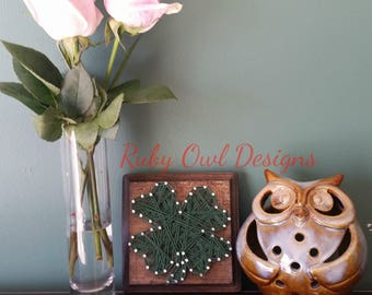 Four Leaf Clover String Art Sign, St. Patricks, Made to Order
