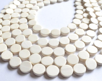 Charlotte - White Wood Multi Strand Statement Bridesmaid Necklace
