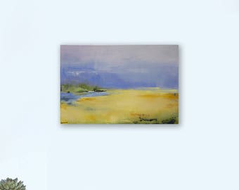 Great Deal for 2018 Abstract Landscape Original Acrylic Painting, 24Hx36W Fine Art Collector, West Elm Featured Artist, Pottery Barn Artist