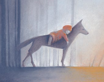 Fairy tale pastel, Fairy tale art, Pastel art, Children's art, Children's illustration, Art print