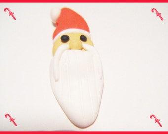 Bead fimo Santa beard kawaii cute Christmas tree winter polymer