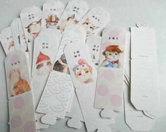 Lovely Cat Bookmark - 30 Bookmarks