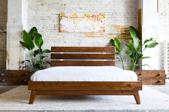 Angled Leg Platform Bed