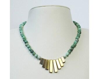 Jewelry necklace beads natural semi precious handmade hand PALENQUE