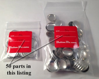 Button Biz Size 36 Flat Back Parts and Assembly Tools