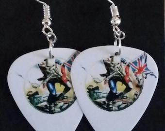 Iron Maiden Plectrum Earrings - The Trooper