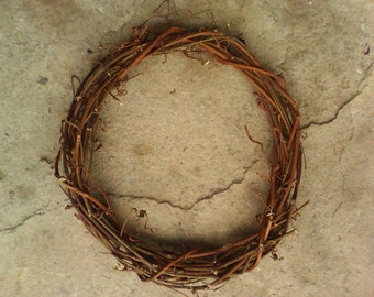 """17"""" Handmade Natural GRAPEVINE WREATH emty plain for decoration - Direct Offer by thecraftsman"""