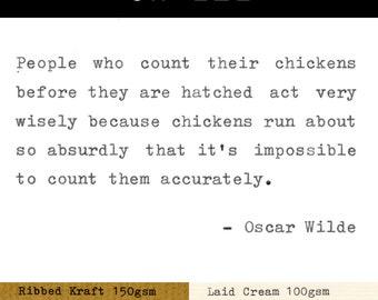 Real Typewriter – Oscar Wilde Quotes – Part 3
