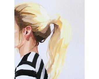 """5x7"""" hair print - """"ponytail 4"""""""