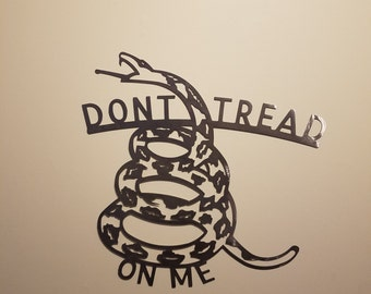 CNC Dont Tread On Me Metal Sign Powder Coated or Raw Steel Gadsden Flag