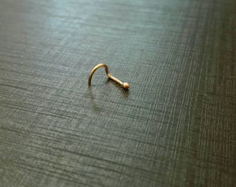 18ct Solid Rose Gold Nose Ring
