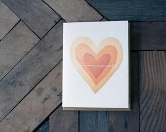 Heart Arrow Card Letterpress