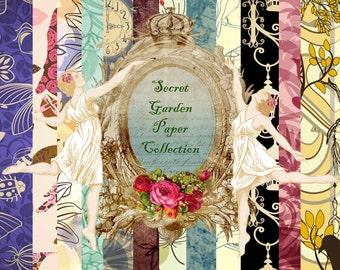 The Secret Garden digital Paper Pack