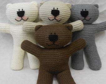 Wooly Crew Teddy Bear knitting pattern PDF