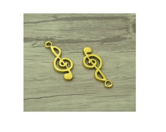 SET of 3 charm treble clef note music (S37)