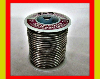 Solder for Decorative Soldering, Stained Glass Solder, Canfield Brand 63/37 Solder, 1 pound, Not For Jewelry