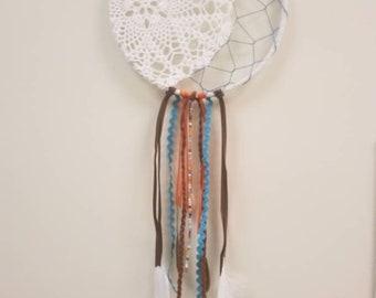 Dream Catcher, Wall decor, art hanging, small dreamcatcher, boho wall hanging, lunar dreamcather, Moon dreamcatcher