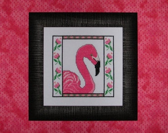 Floral Flamingo Cross Stitch Chart by RK Portfolio