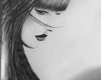 Art PRINT of original graphite sketch drawing
