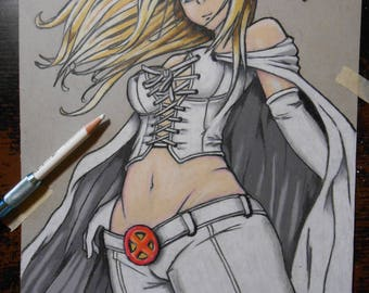 Original Drawing of Emma Frost From The X-MEN