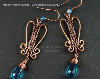 Archer's Weave Earrings  Wire Woven Jewelry Tutorial
