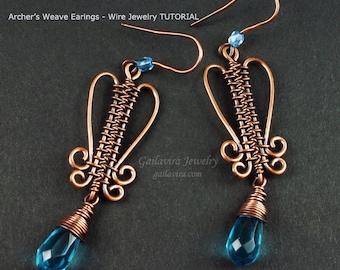 Archer's Weave Earrings  Wire Woven Jewelry Tutorial